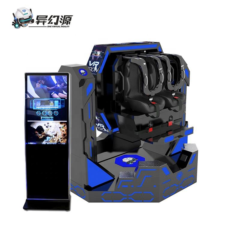 9DVR Simulator VR 1080 Iron Warrior Virtual Reality Roller Coaster 9D 2 Seat Cinema Chair