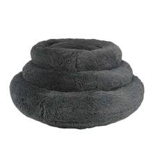 2020 round dog bed donut modern pet bed  Faux Fur Cuddler  Comfortable  with Self Warming Indoor Sleeping