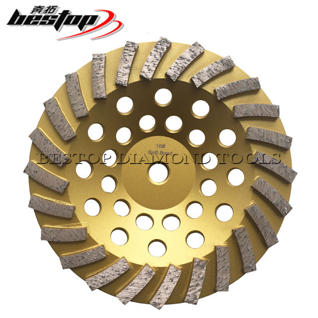 7 Inch 180mm Concrete and Stone Diamond Cup Grinding Wheels with 24pcs Polishing Segments