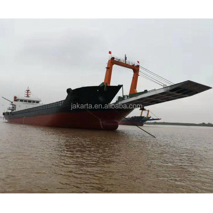 Widely used steel 3700DWT deck cargo barge used cargo ship ship bulk carrier boat engineering move big work boat with CLASS ZC