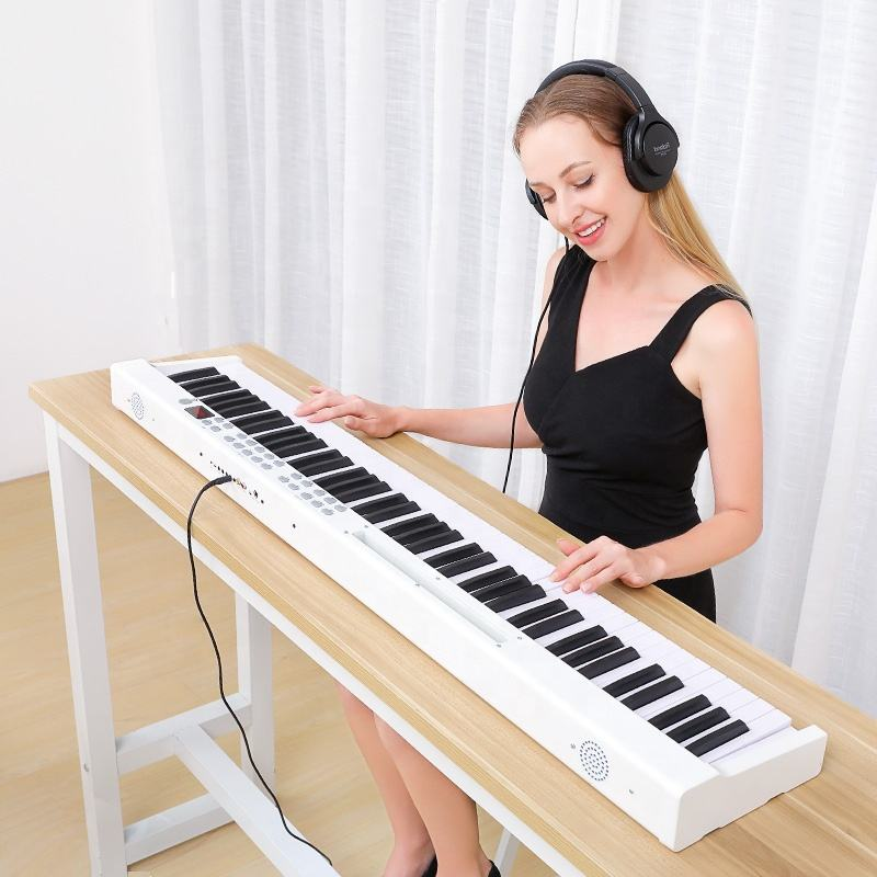 2020 New high quality professional portable white 88 key piano usb MIDI digital Controller keyboard electronic piano