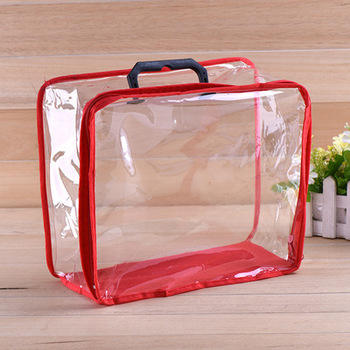 Circular tube transparent vinyl quilt carrier plastic pillow non-woven bag
