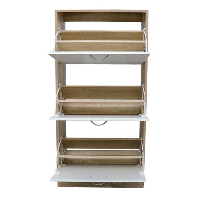 Simple Style Solid Outdoor Wood Shoe Storage Cabinets