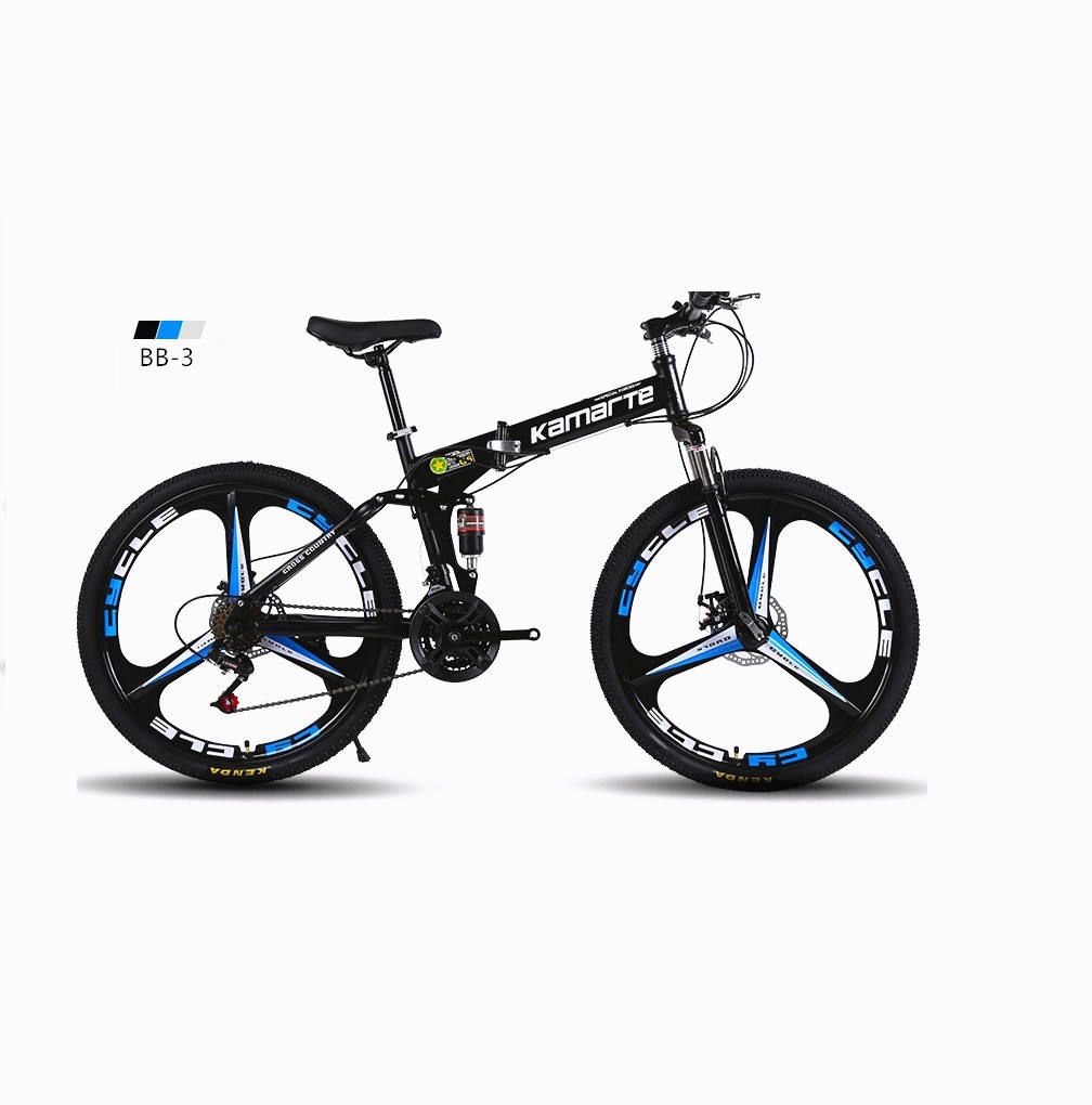 24/26 inch21 24 27 speed transition carbon folding bike with damping suspension fork