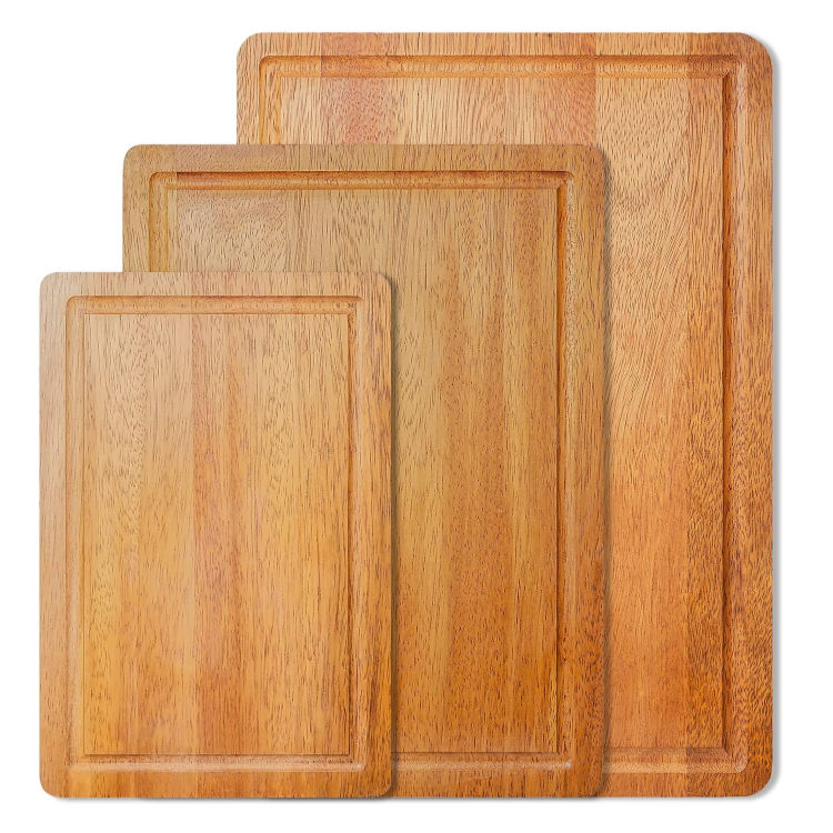 Home decoration rustic nature cutting board acacia wood with juice slot