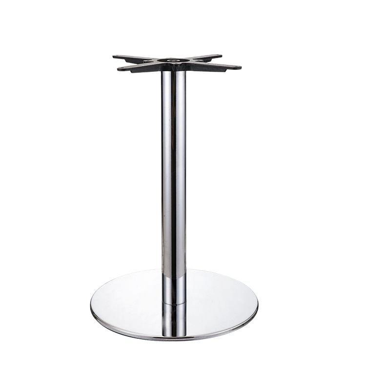 Commercial Contract TOPHINE Round Metal Table Legs Chrome Steel Pedestal Table Base