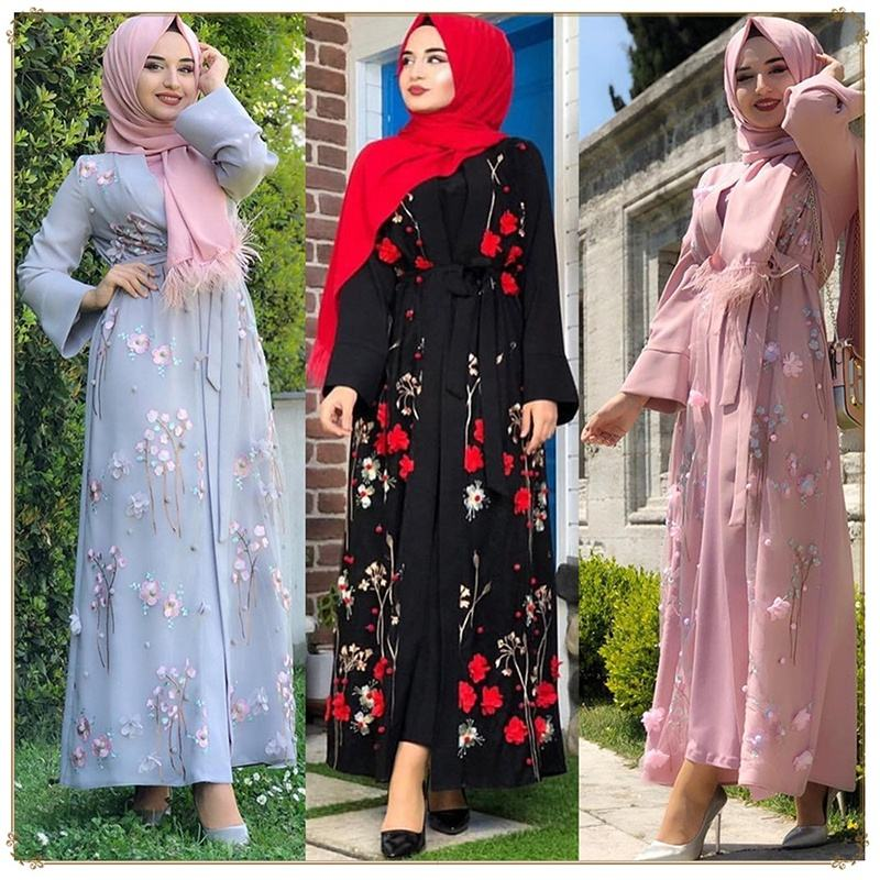 LSM006 Fashion Muslim Women Dress Middle Eastern Arab Women Islamic Hijab Dress Abaya
