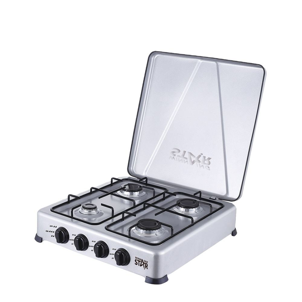 ST-9611 WINNING STAR Deluxe Gas Stove 4 Burner Cold-Rolled Plate Sprayed with Plastic Gas Cooktops