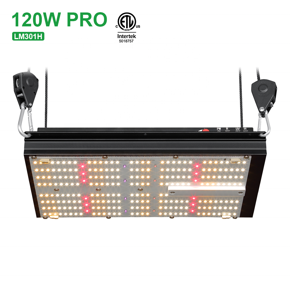 Bavagreen updated separate uv grow lamp 120w full spectrum Seoul 3030 mix red 660nm IR 730nm far red led grow light