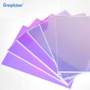 1.8-40mm colorful iridescent rainbow acrylic mirror sheet