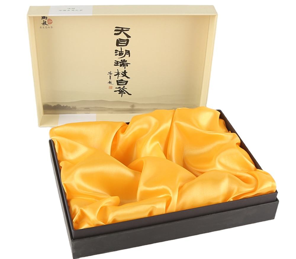 300g 24pt paper card full color printing glossy or matte coating customized tea gift paper box