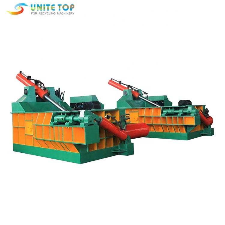 Good quality baling press machine for scrap stainless steel aluminum waste metal baler
