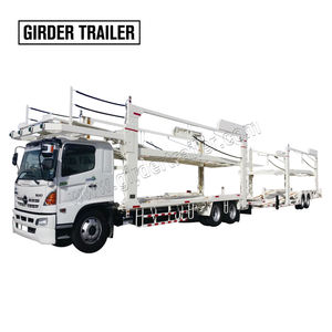 Hot sale new or used dual axle center axles u haul flat bed 10 car carrier dolly tow truck trailer for sale in Dubai
