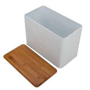 Bread box/Kitchen Canister/Wooden/Bamboo lids 5pcs