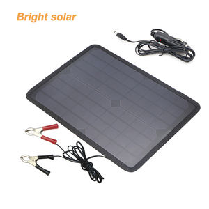 car battery charger 12v 18v 10w Photovoltaic solar panels maintain/trickle charge batteries replenish 12V portable solar power