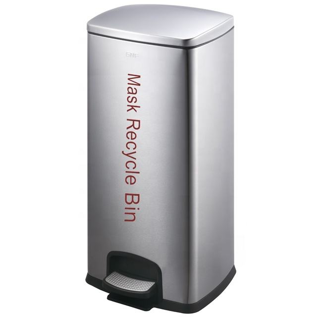 GNF 30L hospital medical abandoned litter recycle bin waste collection public pedal bin