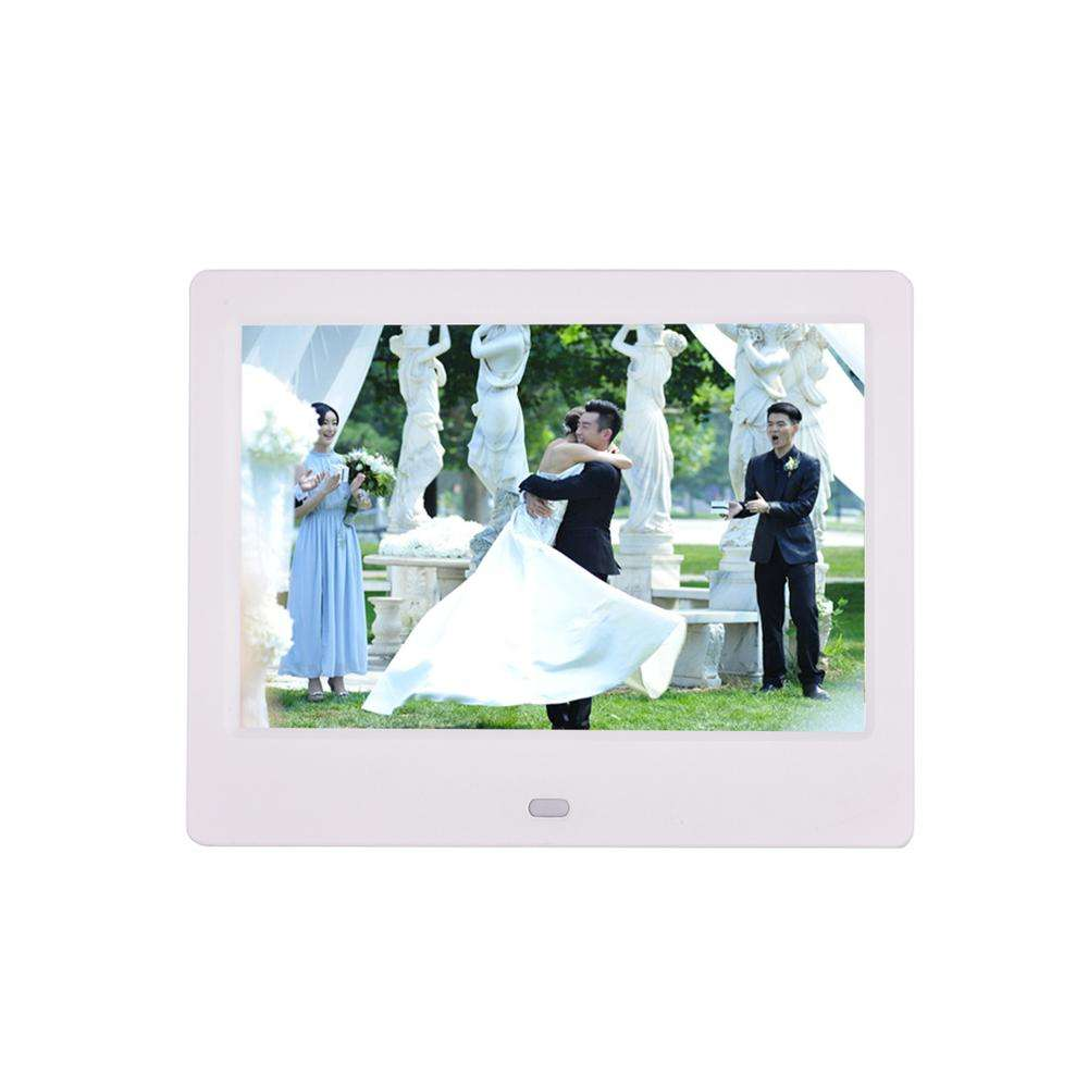 Digital Photo Frame KANEED 15-inch Digital Photo Frame Electronic Photo Frame Ultra-Narrow Side Support 1080P Wall-Mounted Advertising Machine Color : Pink Black