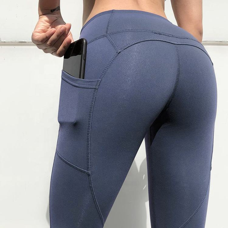 Hoge taille panty voor running fitness workout sport fashion actieve capri leggings butt lift Perzik bil yoga broek