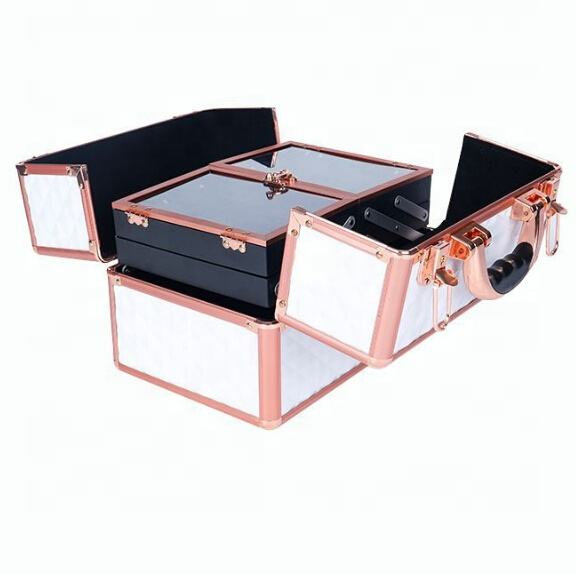Amazon High Quality Professional Artist Vanity Tropical Beauty Storage Cosmetic Boxes Organizer Makeup Case