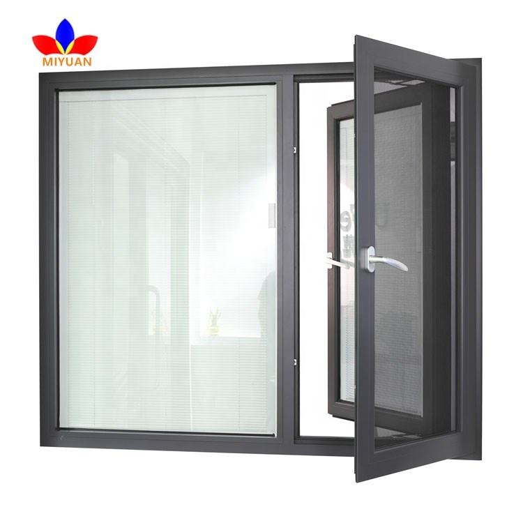 Double glass heat insulation aluminum windows for sale
