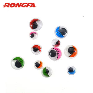 Colorful DIY Doll Eyes Delicate Moving Wiggle Round Plastic Safety Eyes