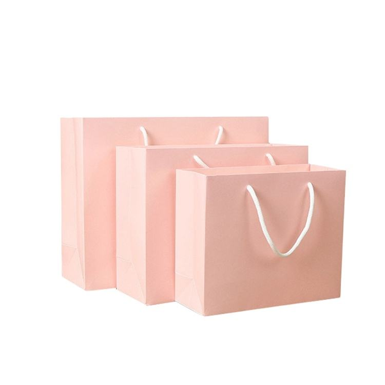Wholesale Laminated Printed Luxury Shopping Gift Custom Paper Bag