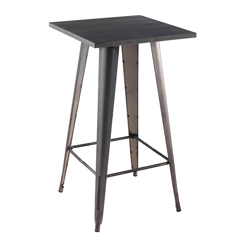 Free sample commerical bar furniture full metal high tables modern design cheap bar table