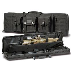 "Yakeda 36"" 42"" 46 inch molle carrying assault military outdoor tactical airsoft dual soft rifle case gun bag"