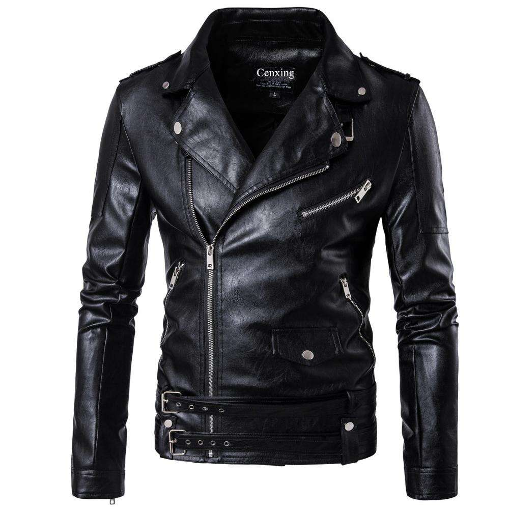 1pcs accept mens leather jackets Autumn Winter PU leather jackets men black leather jacket for men