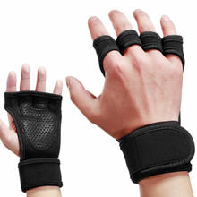 2020 New weight lifting sports gym gloves with Built-In Wrist Wraps, Full Palm Protection & Extra Grip. Pull Ups