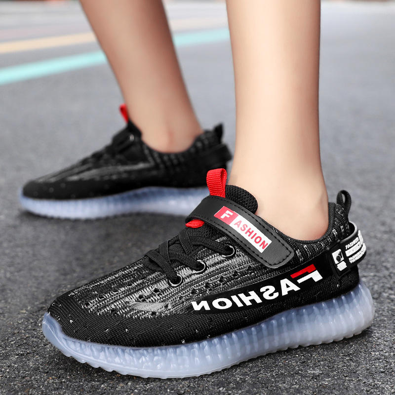 Wholesale Luxury High Quality Kids Yeezy Black Children's Sports Shoes