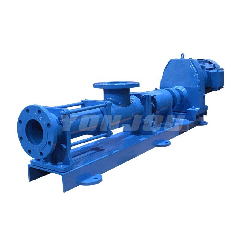 G Sanitary High Viscosity Liquid Positive Displacement Rotary Progressive Cavity Single Screw Mono Pump ( with Hopper )