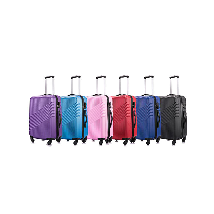 Custom Durable Waterproof Multi Color ABS Suitcase Set 20/24/28 Travel Bag Trolley Luggage Set 3pcs