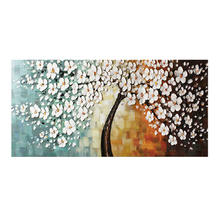 3d flower oil painting living room handmade wall art wholesale