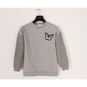 Children Apparel Stock Lot Long Sleeve Teen Girls' Unicorn Print Sweatshirts Pullover Fit 6-15Y Branded Stock Lots