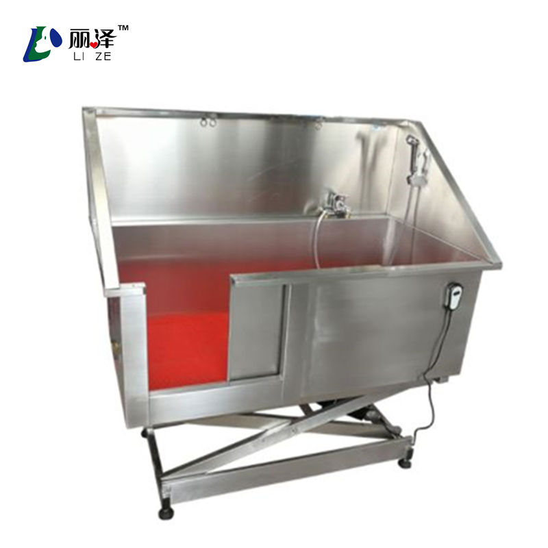 Electric lifting Dog Bathing sink for pet clinic small animal bathing pool