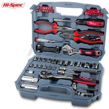 Hispec New Coming 67pc Multifunctional Mechanics Tool Set Complete Auto Tool Set Combo Tool Kit for Automobile Car Repair