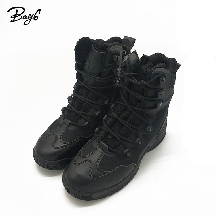 High Quality Combat Tactical Outdoor Army Boots Black Dedicated to Military