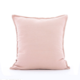 Custom high quality 100% natural linen pink cusion/pillow cover pillowcase/protector