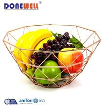 Wholesale Price Designer Decorative Kitchen Storage Vegetable Fruit Bowl Countertop Iron Wire Metal Fruit Basket Stand