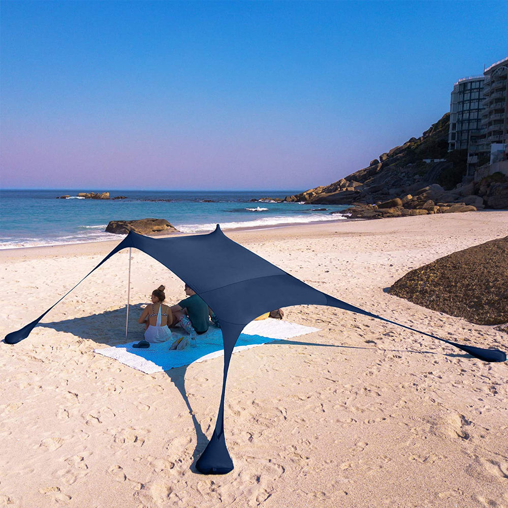 2020 New Style UPF 50+ Light Sunshade Pop Up Beach Tent, Portable Premium Outdoor Shade Beach Tent Sun Shelter With Sand Shovel/