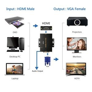 1080p male to female vga hdmi converter hdmi to vga with audio output hdmi to vga adapter