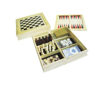 Chess Set Wooden 5 In 1 Game Set High Quality Chess