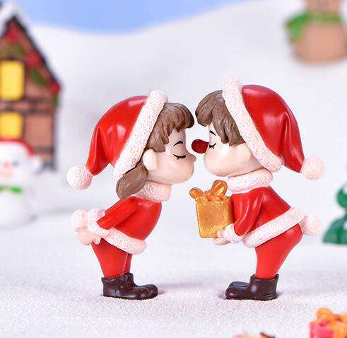 Christmas Series Cartoon Animal Toy Figure Statues figurine resin crafts