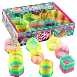 Vending Capsule Toy Mini Rainbow Magic Spring Toys For Kids pvc rainbow print coil spring toy