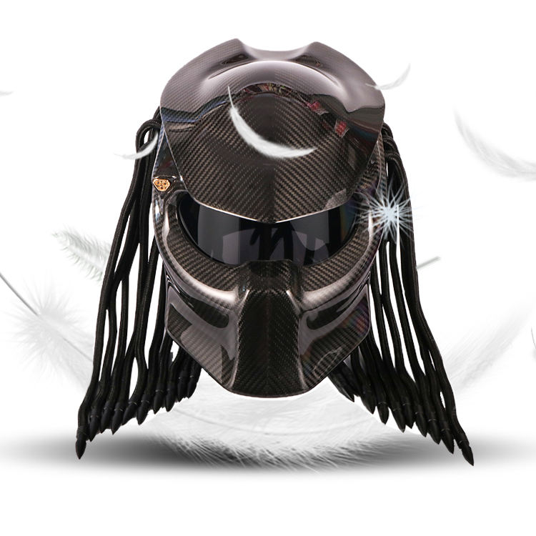 2020 NEW High-end Craft Carbon Fiber Predator Helmet Motorcycle Full Face Motorbike Helmet