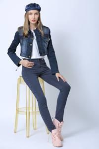 jeans mujer modelos | Pantalones vaqueros ajustados de mujer de cintura baja lavados a rayas largas de moda de último diseño