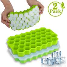 BPA Free Stackable Safe Ice Cube Mold Eco-friendly Silicone Easy Release and Ice Cube Trays