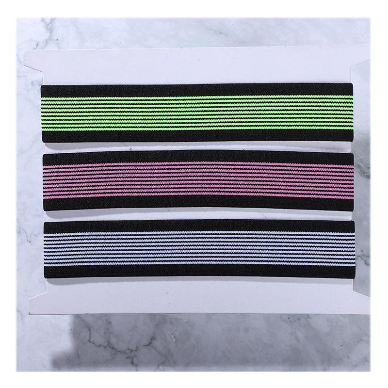 Polyester Nylon Webbing 30mm Needle Striped Elastic Band Clothing Manufacturers Supply Customized