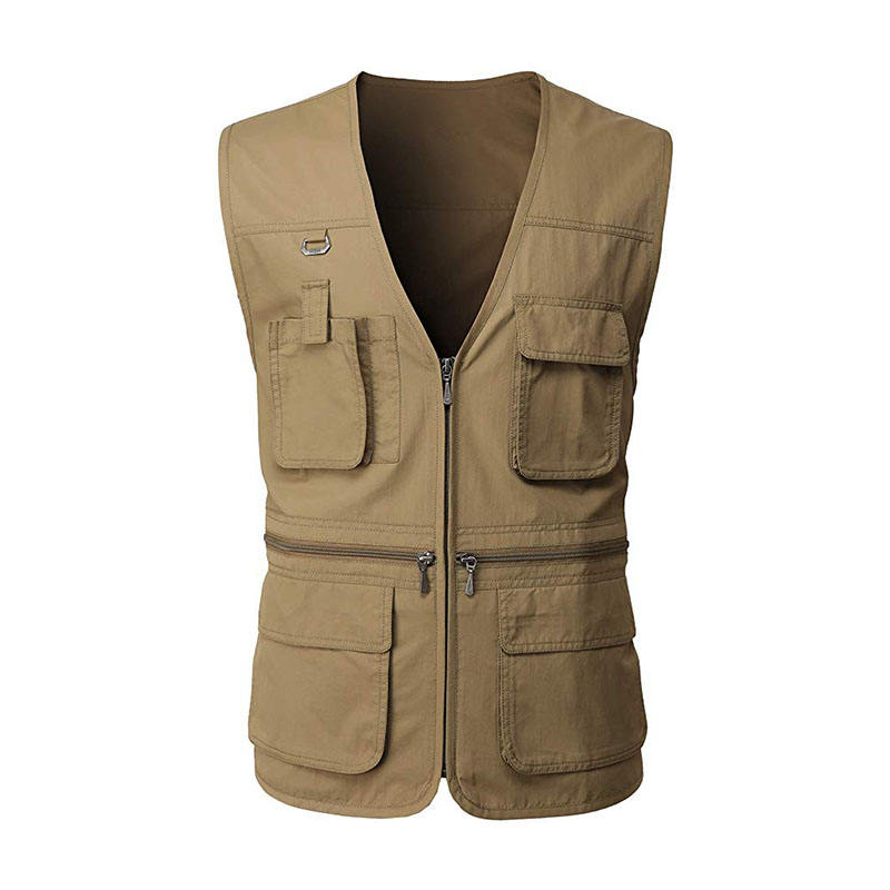Man Multi Function Vest Fishing Jacket Outdoor Sleeveless Jacket with Pockets